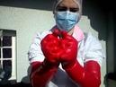 Fetish Nurse Red Latex Gloves
