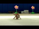 Полина Третьякова 2013 г.р. соревнования по художественной гимнастике Майские Звездочки