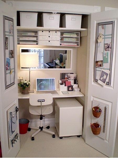 Домашний офис на 1 квадратном метре #DIY_Идеи