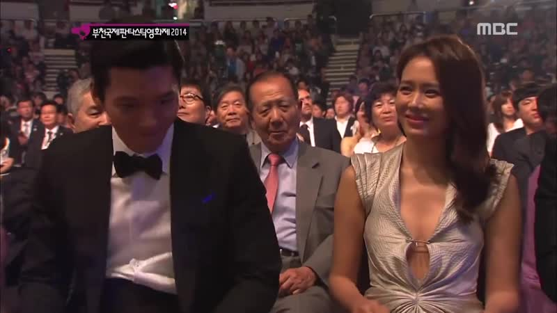 Hyun Bin and Son Ye Jin at the 18th Puchon International Fantastic Film Festival on July 17, 2014