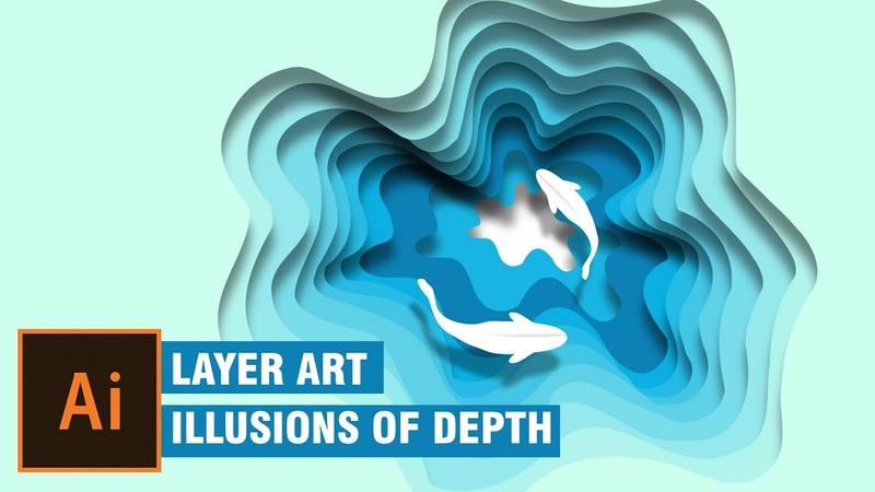 Layer art in illustrator | illustration | Illusions of Depth | illustrator tutorial | cs6 | cc