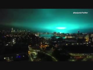 VIDEO- New York transformer explosion lights up sky