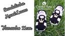 Sandalinha KAWÊ LUCAS de crochê Tamanho 11 cm Crochet Baby Yara Nascimento
