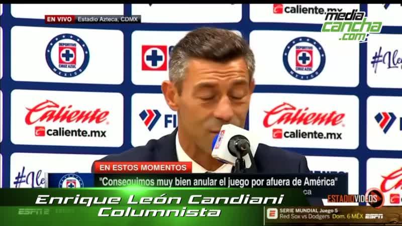 Pedro Caixinha se fue insatisfecho con el empate ante América