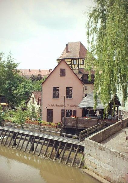Мельница на воде в провинции Бавария