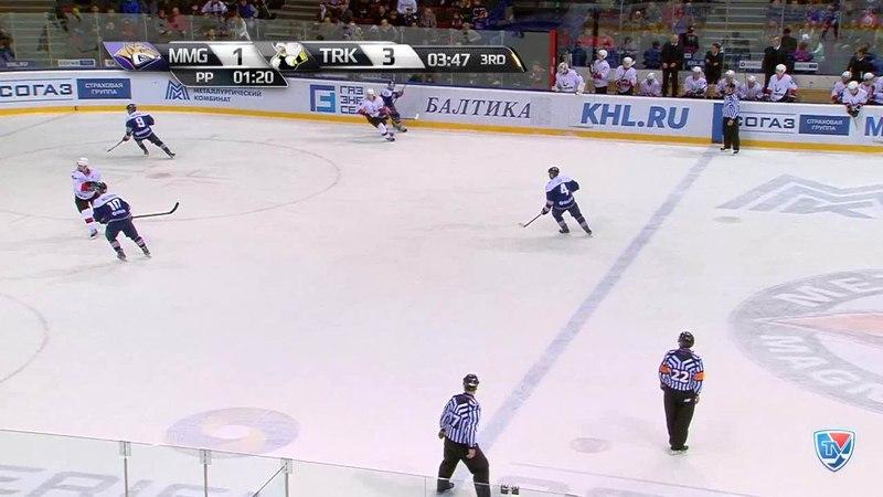 Моменты из матчей КХЛ сезона 14 15 Гол 2 3 Зарипов Данис Металлург Мг забросил шайбу и сократил отрыв от соперника 18 1
