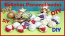 Bolinhas Personalizadas para decoração de Natal Ideias e Decorações