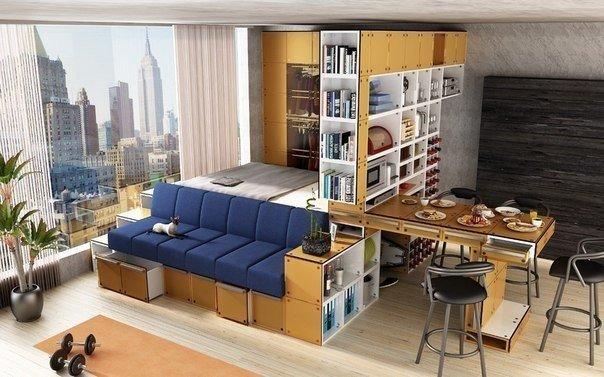 Однокомнатная квартира-студия