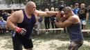 Бой Максим Новоселов против уличных бойцов Сломал за две минуты