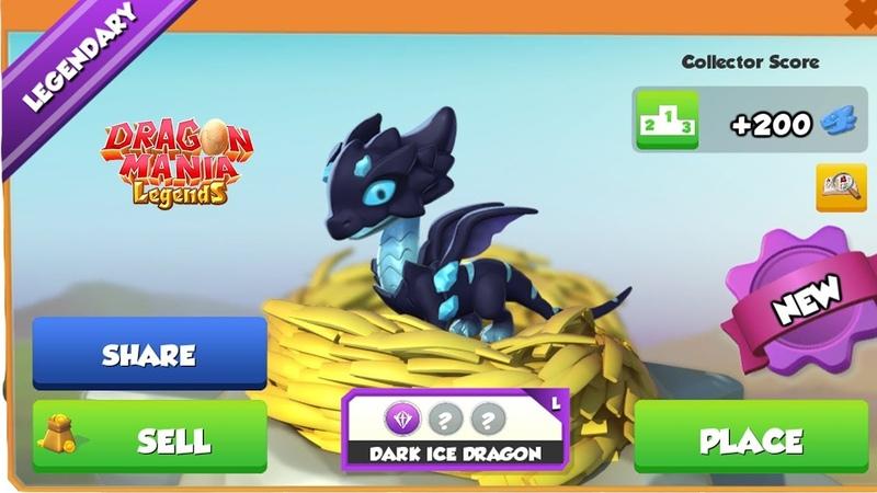 Dark Ice Dragon Gem Dragon Hatching! , Dragon Mania Legends | Part 1404 HD