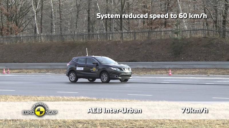 Euro NCAP Nissan Qashqai 2014 AEB Test