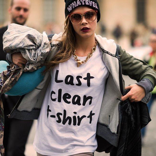 Последняя чистая футболка -