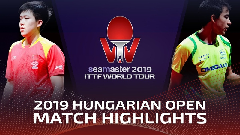 Wang Chuqin vs Hugo Calderano | 2019 ITTF World Tour Hungarian Open Highlights (14)