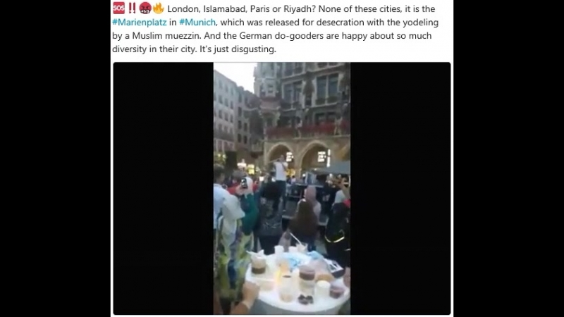 London, Islamabad, Paris or Riyadh? None of these cities, it is the Marienplatz in Munich, which was released for desecration
