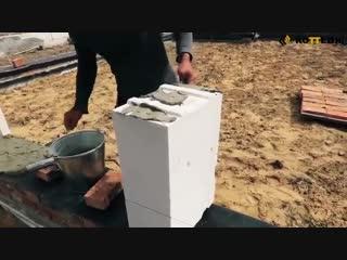 Видеообзор этапов строительства дома из газобетона - vk.com/my.dacha
