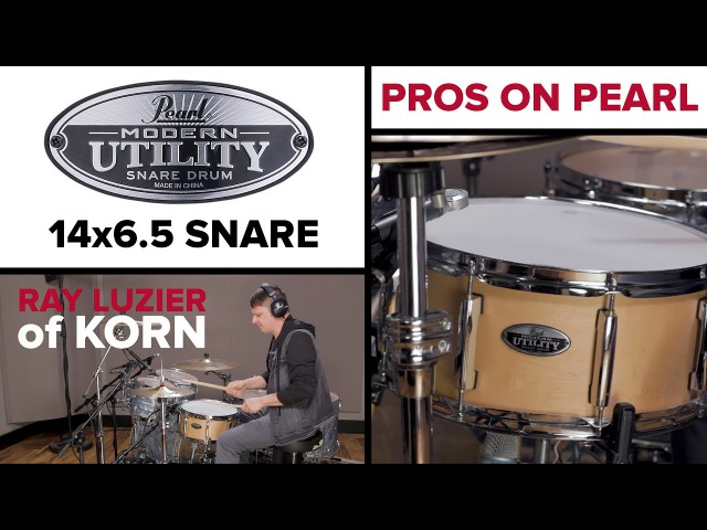Pearl Modern Utility 14x6.5 Snare Drum with Ray Luzier of KORN