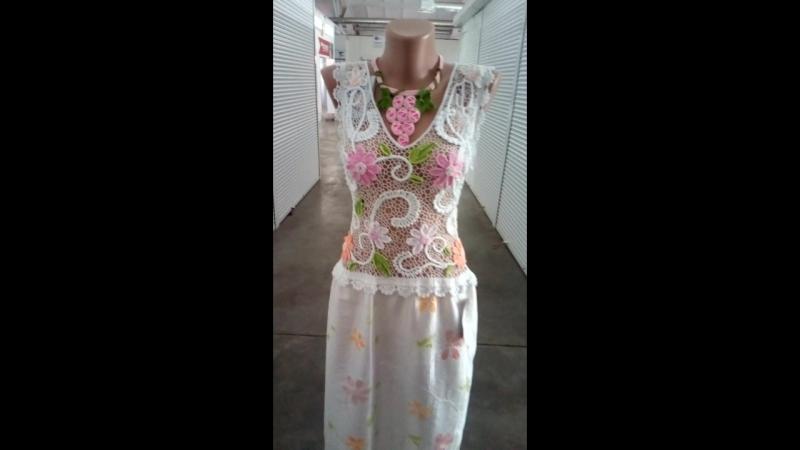 Платье *Нарцис* ирландское кружево
