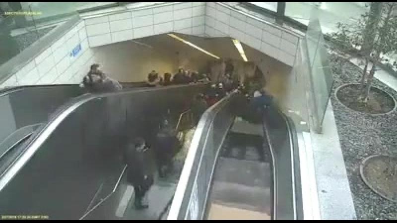 Эскалатор захомячил толпу