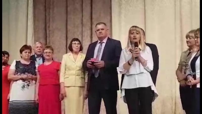 Награждение Коронованных Директоров Владимира и Анны Моргун золотыми печатками.