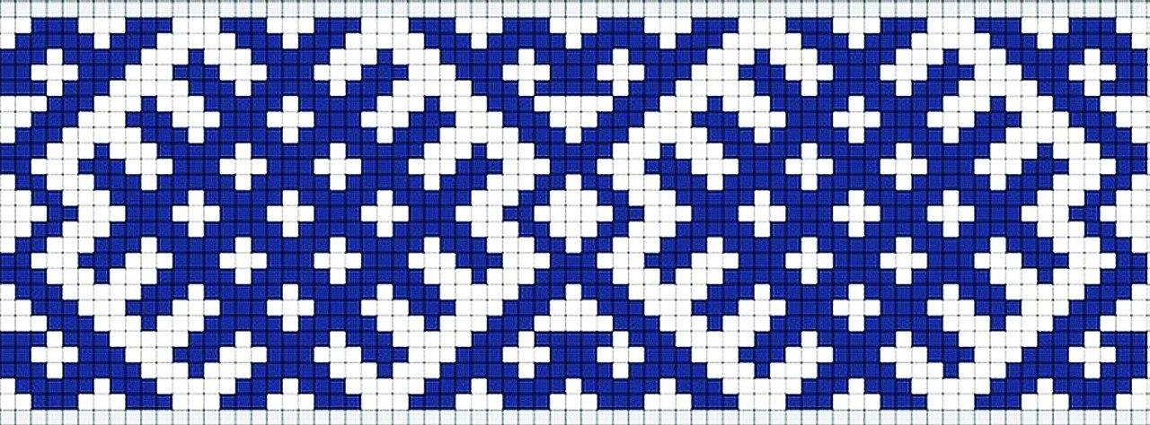 Вышивка орнамент ромбы