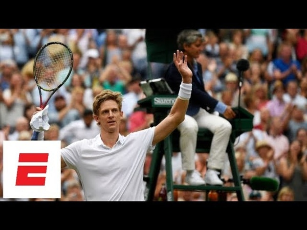 The last (50th!) game of Anderson vs. Isner's epic semifinal marathon match at Wimbledon 2018   ESPN