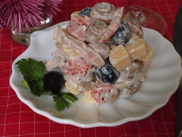 """Превосходный салат """"Праздничный"""" — новогодний праздник вкуса!"""
