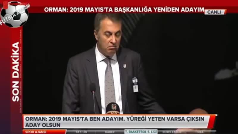 Beşiktaş Başkanı Fikret Orman Divan Kurulu Konuşması 17 Kasım 2018