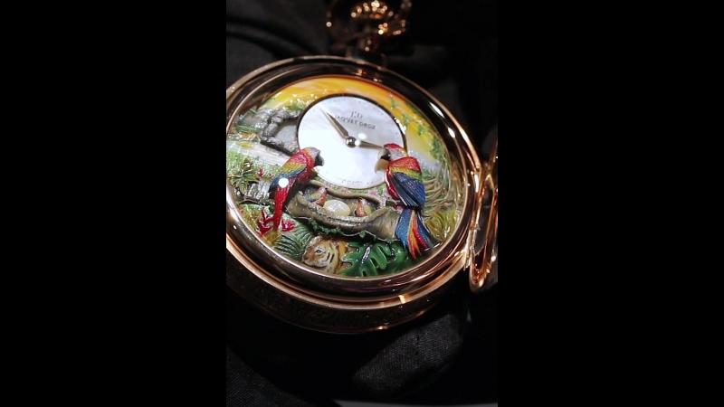 Уникальные Jaquet Droz Parrot Repeater Pocket Watch