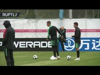 Команда Роналду в Кратове: сборная Португалии провела первую тренировку