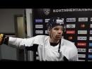 Виктор Антипин перед матчем с Северсталью