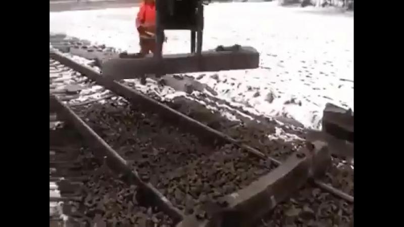 Технология замены шпал
