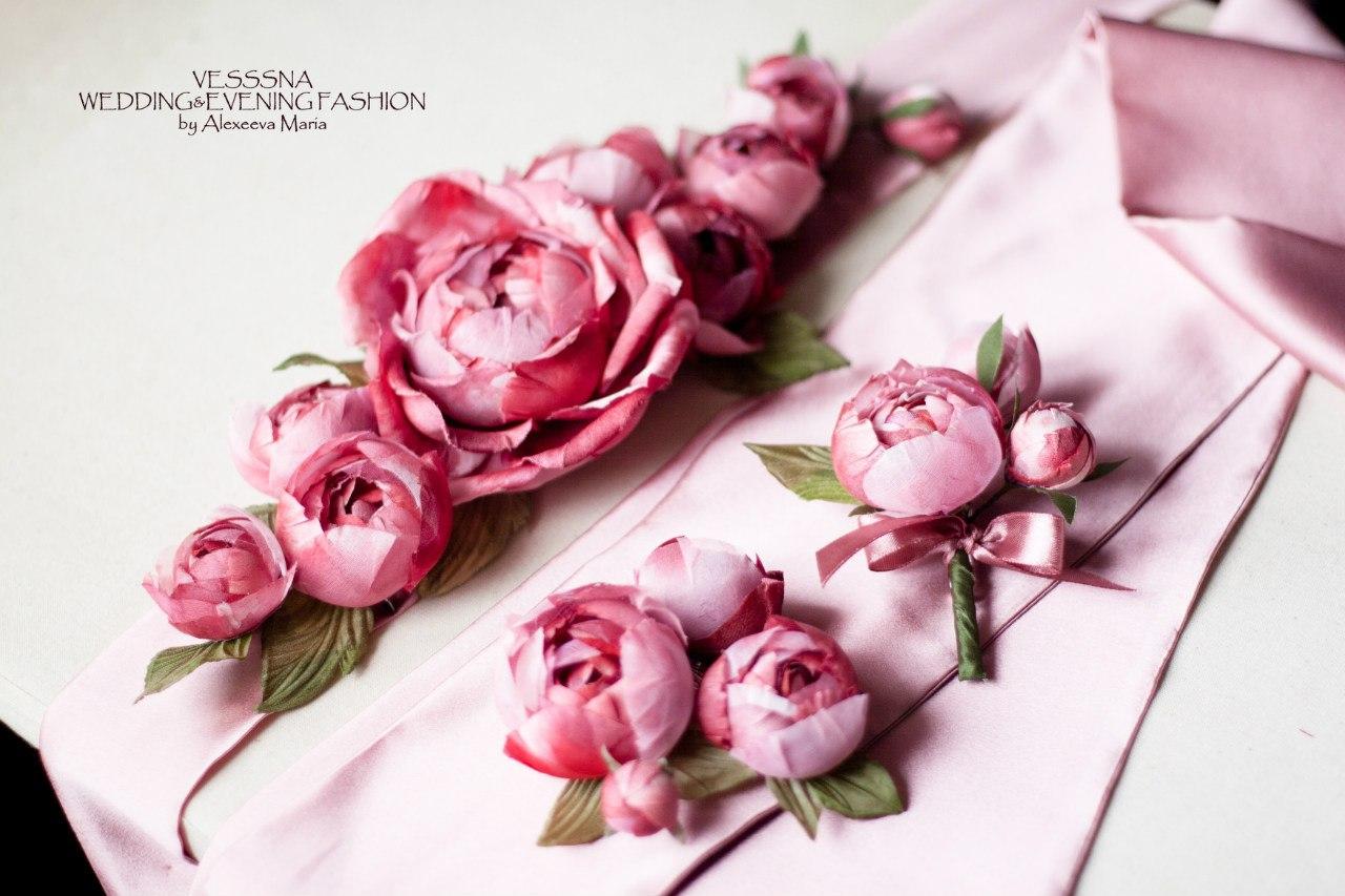 Цветок из шелка своими руками