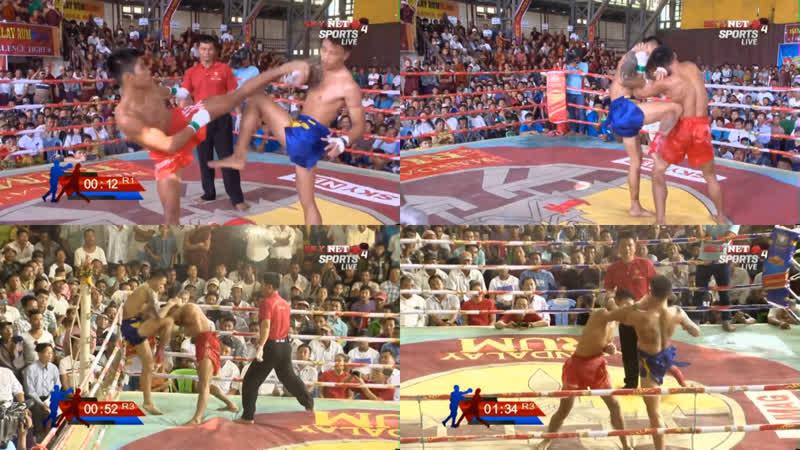 Бирманский бокс летхвей разрешён один тайм аут после нокаута Mandalay Rumbling Fight