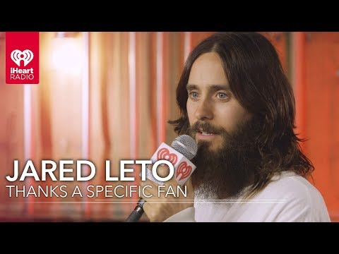 Jared Leto Thanks A Specific Fan | 2018 iHeartRadio Music Awards