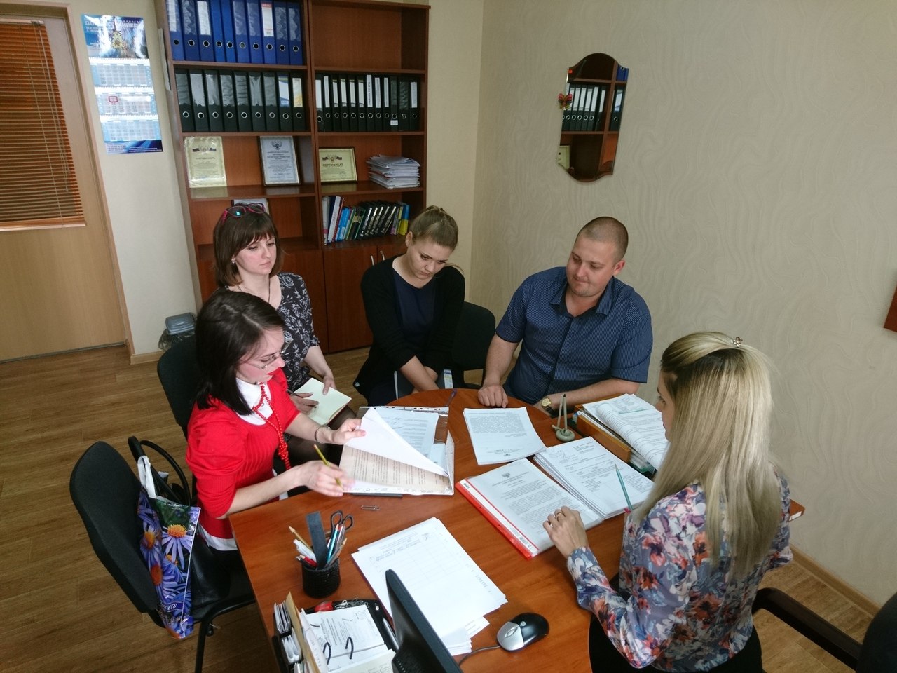 В Донецком городском управлении юстиции состоялся семинар с представителем администрации Калининского района