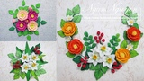 Artwork Quilling Three Type Of Flowers