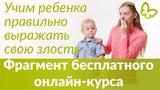 Детская агрессия | УЧИМ ПРАВИЛЬНО ВЫРАЖАТЬ ЗЛОСТЬ | Фрагмент  БЕСПЛАТНОГО онлайн курса Екатерины Кес
