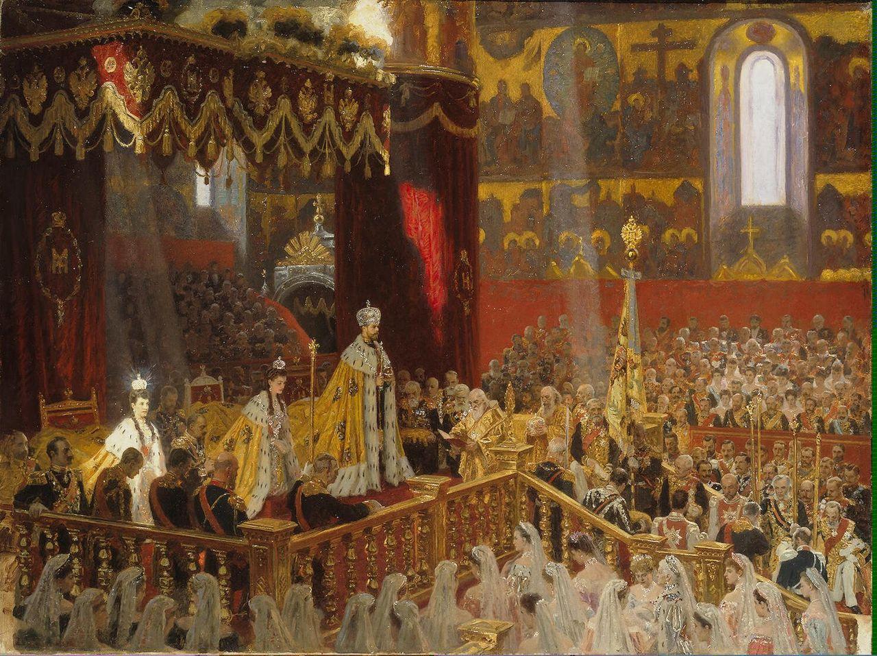 """Лауриц Туксен """"Коронация Николая II в Успенском соборе Московского Кремля 14 мая 1896 года"""". 1898г."""