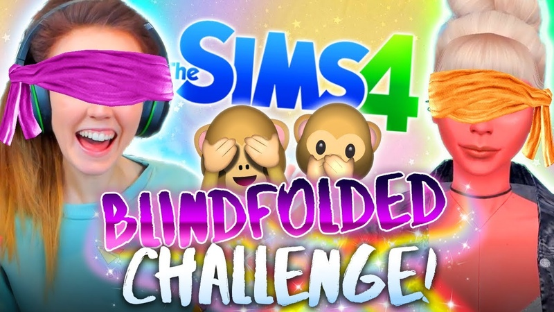 🙈BLINDFOLD CHALLENGE!🙈 No peeking!🙊(The Sims 4 CAS)