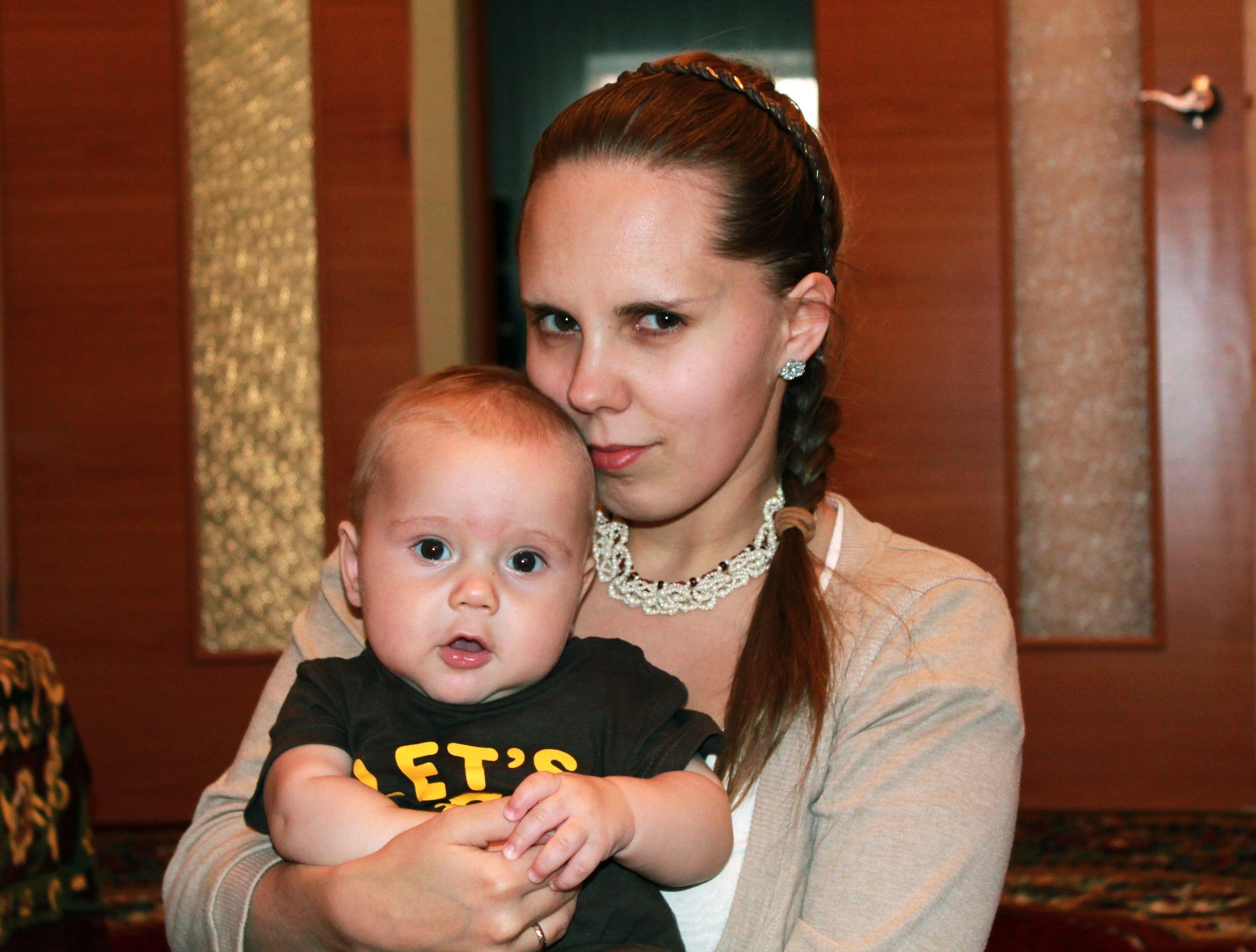 Геращенко Александра с сыном Ярославом