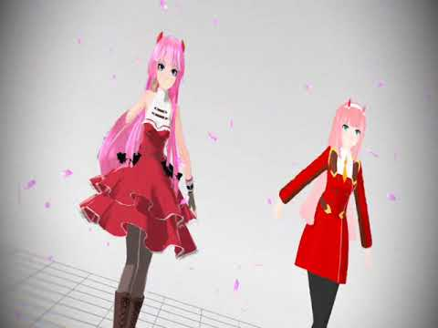Darling In The FranXX and Vocaloid (Zero Two and Maiko Hakaine) [MMD] - Try To Be a Girl