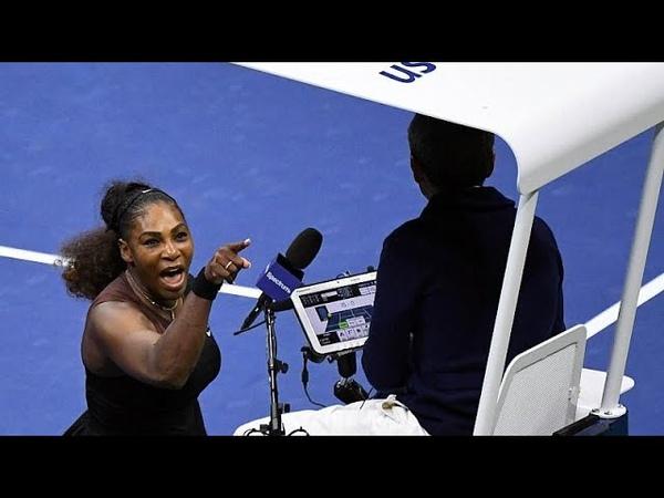 VİDEO - ABD Açıkta kaybeden Serena Williams sandalye hakemiyle tartıştı