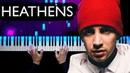 Twenty one pilots - Heathens Piano tutorial Sheets