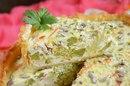Пирог с творогом и брокколи