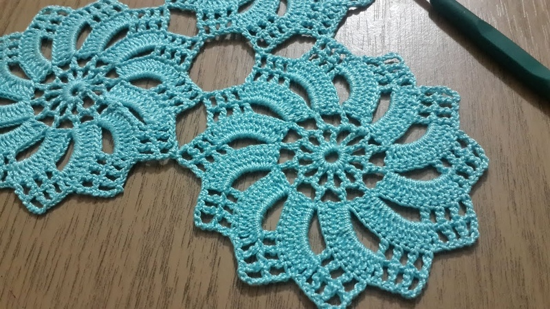 Tığişi Örgü Dantel Motifi Yapımı, Çarkıfelek Modeli Crochet