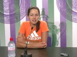 Пресс-конференция после матча с Франческой Скьявоне (на сербском)