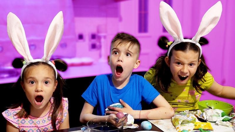 Кто покрасил пасхальные яйца Что то пошло не так Одиссей Кики и Фотини готовяться к Пасхе