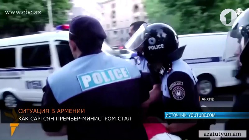 Бархатная революция в Армении, азербайджанские танки у границ Карабаха