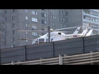 Вертолёт МЧС у м. Рижская, Москва
