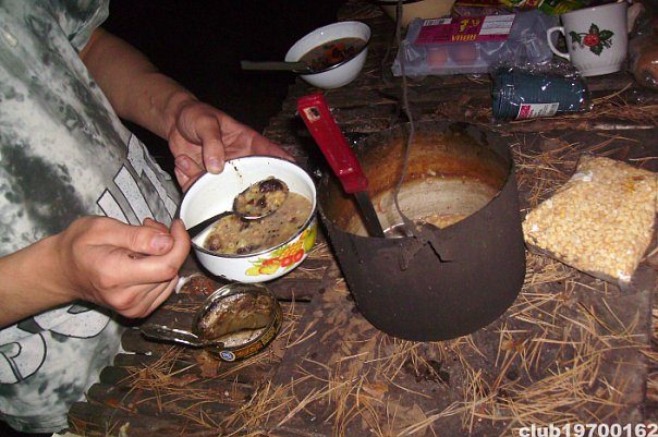 Гороховый суп на костре рецепт